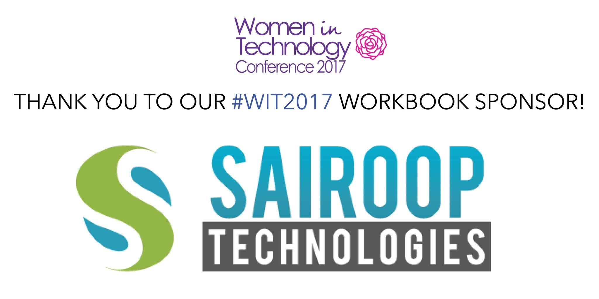 Sairoop Technologies was one of the sponsors at the WIT 2017
